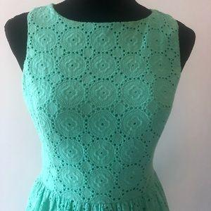 Kensie Dresses - Kenzie Eyelet Lace Mini Dress 👗 Mint Green Size S